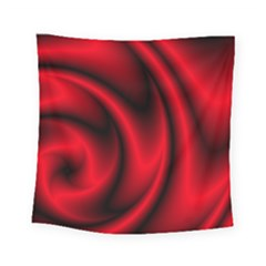 Background Red Color Swirl Square Tapestry (small) by Pakrebo