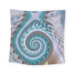 Spiral Fractal Swirl Whirlpool Square Tapestry (small) by Pakrebo