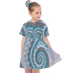 Spiral Fractal Swirl Whirlpool Kids  Sailor Dress by Pakrebo