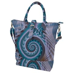 Spiral Fractal Swirl Whirlpool Buckle Top Tote Bag