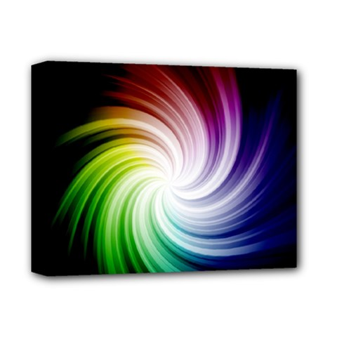 Rainbow Swirl Twirl Deluxe Canvas 14  X 11  (stretched)