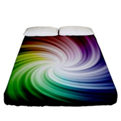 Rainbow Swirl Twirl Fitted Sheet (king Size)
