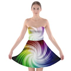 Rainbow Swirl Twirl Strapless Bra Top Dress