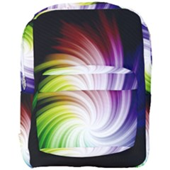 Rainbow Swirl Twirl Full Print Backpack