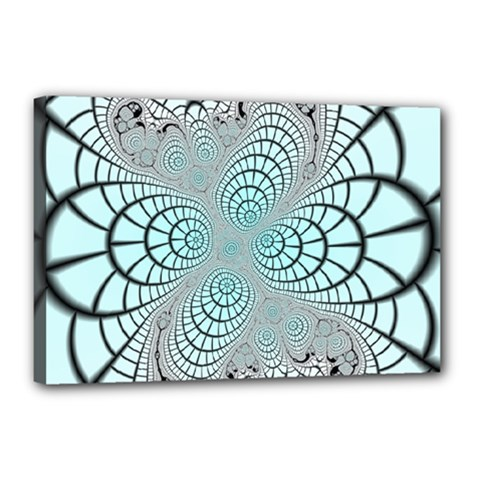 Digital Art Fractal Abstract Canvas 18  X 12  (stretched) by Pakrebo