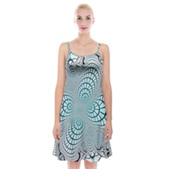 Digital Art Fractal Abstract Spaghetti Strap Velvet Dress