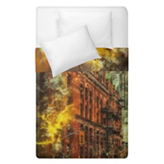Flat Iron Building Architecture Duvet Cover Double Side (single Size)
