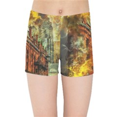 Flat Iron Building Architecture Kids  Sports Shorts