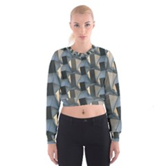 Pattern Texture Form Background Cropped Sweatshirt