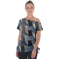 Pattern Texture Form Background Tie Up Tee