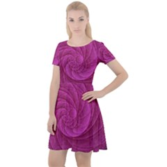 Background Scrapbooking Abstract Cap Sleeve Velour Dress
