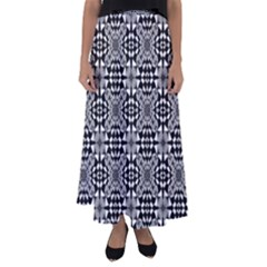 Fabric Design Pattern Color Flared Maxi Skirt