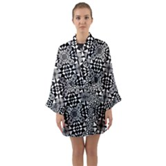 Fabric Design Pattern Color Long Sleeve Kimono Robe