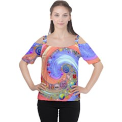 Swirl Vortex Emoji Cyclone Motion Cutout Shoulder Tee