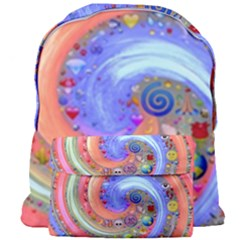 Swirl Vortex Emoji Cyclone Motion Giant Full Print Backpack