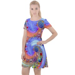 364f07b11b43 Swirl Vortex Emoji Cyclone Motion Cap Sleeve Velour Dress by Pakrebo