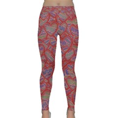 Love Hearts Valentines Connection Classic Yoga Leggings by Pakrebo