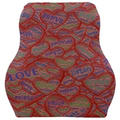 Love Hearts Valentines Connection Car Seat Velour Cushion