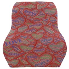 Love Hearts Valentines Connection Car Seat Back Cushion  by Pakrebo