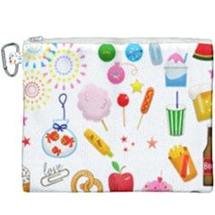 Summer Fair Food Goldfish Canvas Cosmetic Bag (xxxl)