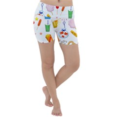 Summer Fair Food Goldfish Lightweight Velour Yoga Shorts