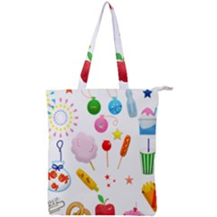 Summer Fair Food Goldfish Double Zip Up Tote Bag