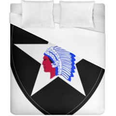 United States Army 2nd Infantry Division Shoulder Sleeve Insignia Duvet Cover (california King Size) by abbeyz71