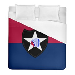 Flag Of United States Army 2nd Infantry Division Duvet Cover (full/ Double Size) by abbeyz71