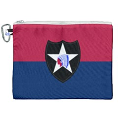 Flag Of United States Army 2nd Infantry Division Canvas Cosmetic Bag (xxl)