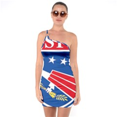 Logo Of United States Forces Korea One Soulder Bodycon Dress