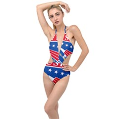 Logo Of United States Forces Korea Plunging Cut Out Swimsuit by abbeyz71