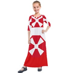 Flag Of The 8th United States Army Kids  Quarter Sleeve Maxi Dress by abbeyz71
