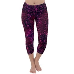 Retro Flower Pattern Design Batik Capri Winter Leggings