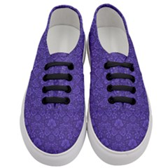 Wallpaper Seamless Damask Wall Women s Classic Low Top Sneakers