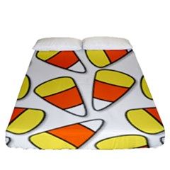 Candy Corn Halloween Candy Candies Fitted Sheet (queen Size) by Pakrebo