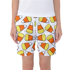 Candy Corn Halloween Candy Candies Women s Basketball Shorts by Pakrebo