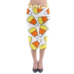 Candy Corn Halloween Candy Candies Midi Pencil Skirt