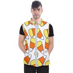 Candy Corn Halloween Candy Candies Men s Puffer Vest by Pakrebo