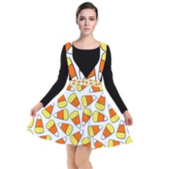 Candy Corn Halloween Candy Candies Plunge Pinafore Dress