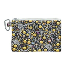 Mental Emojis Emoticons Icons Canvas Cosmetic Bag (medium)