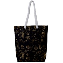 Scrapbook Background Wall Wallpaper Full Print Rope Handle Tote (small)