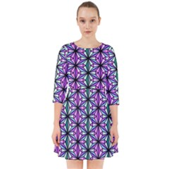 Geometric Patterns Triangle Smock Dress