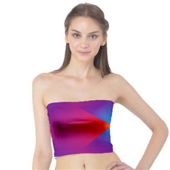 Geometric Blue Violet Red Gradient Tube Top