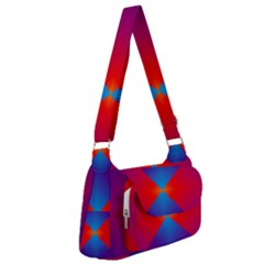 Geometric Blue Violet Red Gradient Post Office Delivery Bag