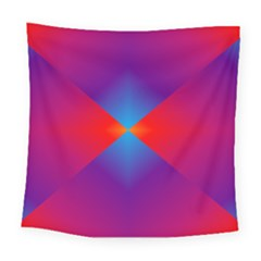 Geometric Blue Violet Red Gradient Square Tapestry (large)