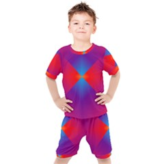 Geometric Blue Violet Red Gradient Kid s Set by Alisyart