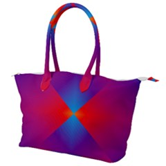 Geometric Blue Violet Red Gradient Canvas Shoulder Bag by Alisyart