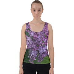 Purple Flowers Velvet Tank Top by SusanFranzblau