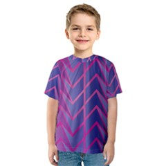 Geometric Background Abstract Kids  Sport Mesh Tee by Alisyart