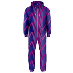 Geometric Background Abstract Hooded Jumpsuit (men)